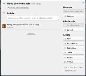 Back of Trello Card